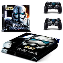 PS4 Skin Sticker Decal Cover of Star Wars The Force Awakens For Sony PS4 PlayStation 4 Console and 2 controller skins