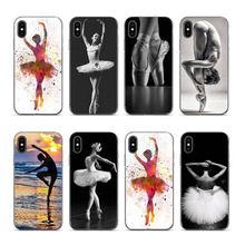 Aiboduo Ballet Dancer girl ballet shoes Transparent Phone Case for iphone XS XR XSMAX 7 7plus 8 8plus 5 5s 6 6 6plus coque цена и фото
