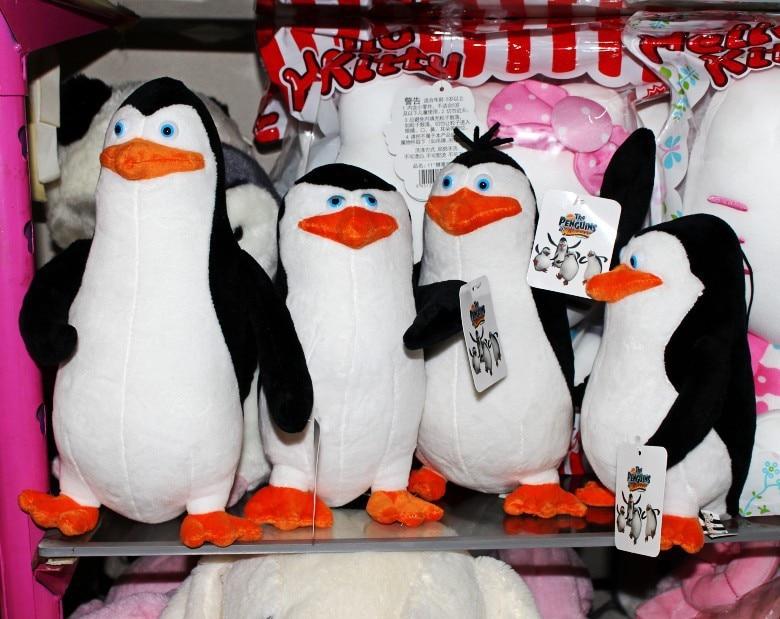 Set of 4PCS The Penguins of Madagascar Private Skipper Rico Kowalski Plush Toys
