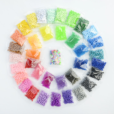 34 Colors 1000pcs/Set DIY Water Spray Magic Aqua Hand Making 3D 5mm Perler Beads Puzzle Educational Toys For Children Ball Game