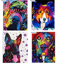 MOONCRESIN 5D Diamond Embroidery Needlework 3D Mosaic Color Dogs Diy Painting Cross Stitch Decoration Gifts Kits