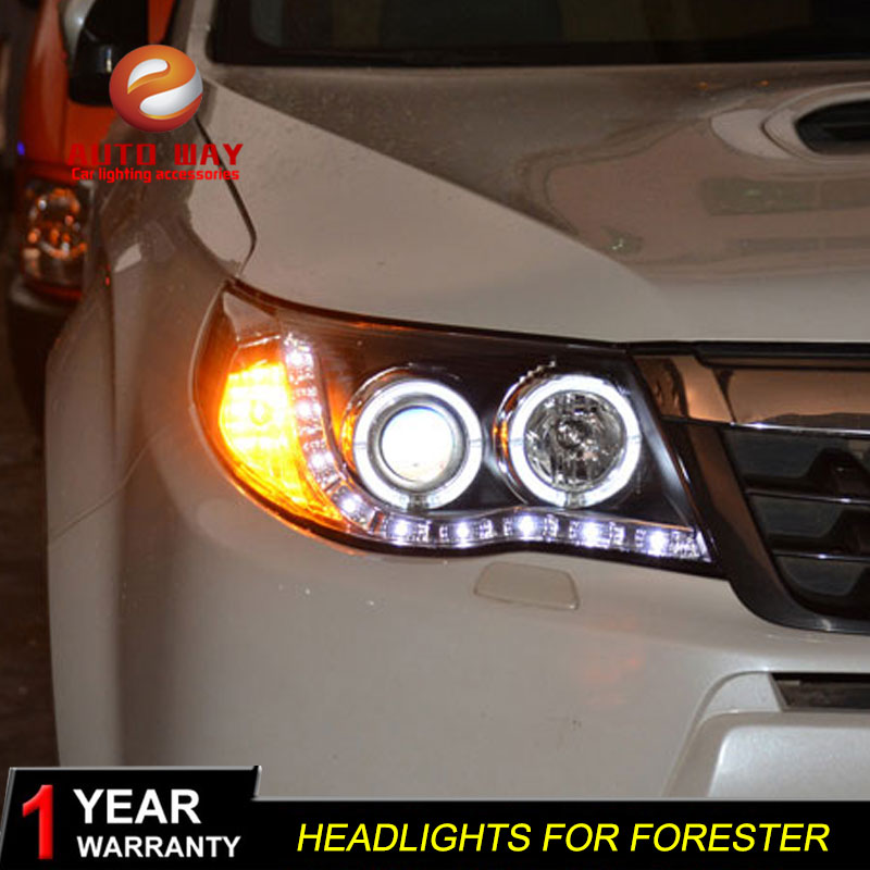 high quality Car Styling case for Subaru Forester 2008-2012 Headlights LED Headlight DRL Lens Double Beam HID Xenon