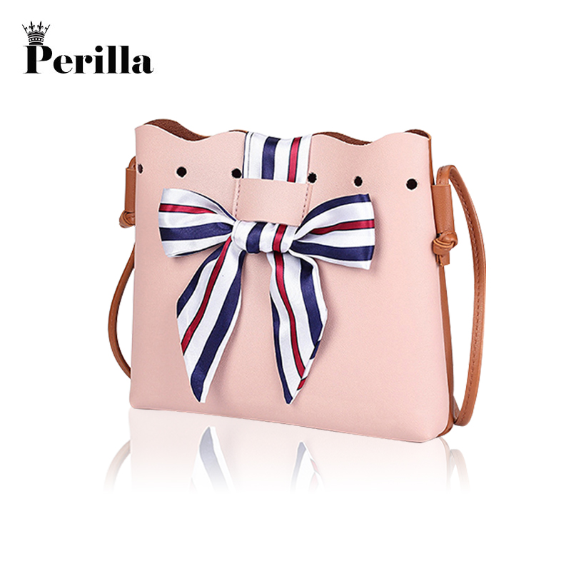 Perilla Women Cute Bags Bucket Leather Shoulder Sling Bags For Women Scarf Drawstring Handbags Ladies Small Crossbody Bow Bags ...