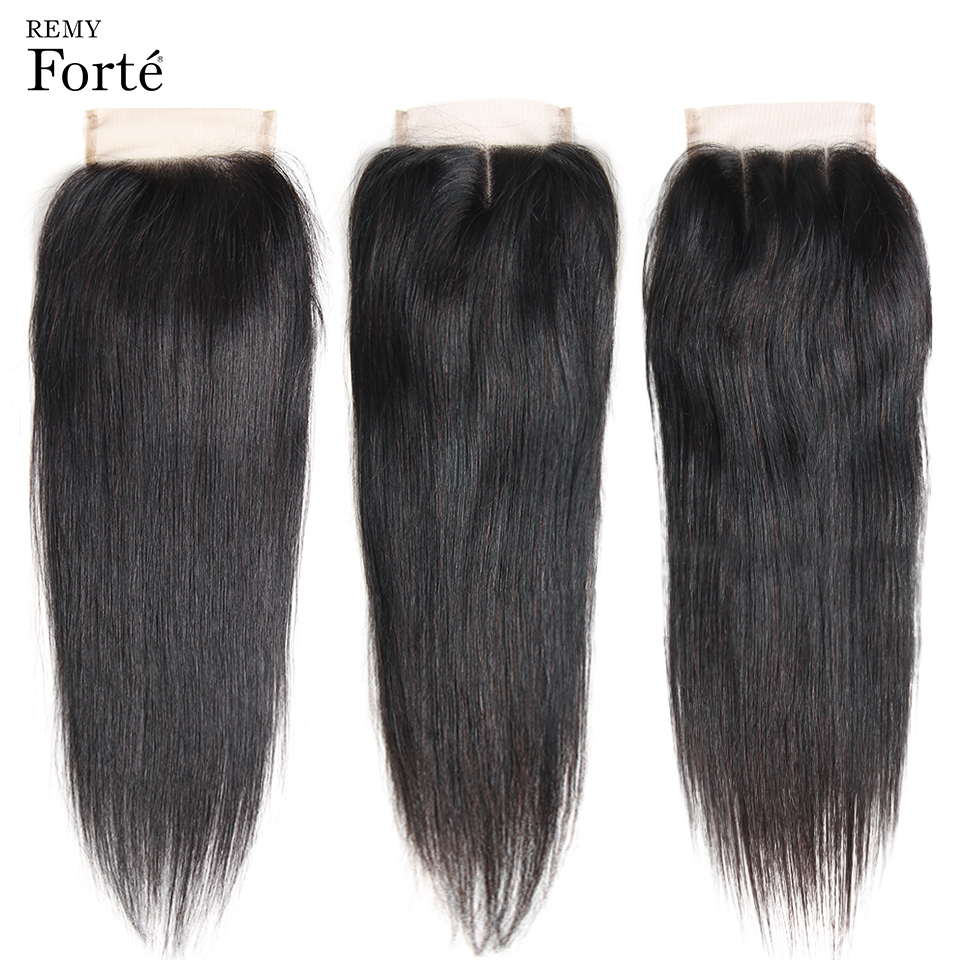 HTB187oaQgHqK1RjSZJnq6zNLpXa5 Remy Forte Straight Hair Bundles With Closure Non Remy 8-30 Inch Hair Brazilian Hair Weave Bundles 3/4 Bundles With Closure