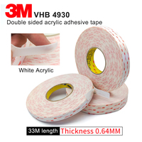 100% original 3M VHB 4930 two sided acrylic adhesive tape/waterproof tape 20mm*33M*5rolls/ we can offer other size