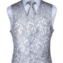Мужской классический жаккардовый жилет Пейсли, жилет, платок, вечерние, свадебные галстуки, жилет, Карманный платок для костюма, набор