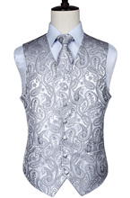 font b Men s b font Classic Paisley Jacquard Waistcoat Vest Hankerchief Party font b