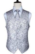 eda922d27ed33 Men's Classic Paisley Jacquard Waistcoat Vest Handkerchief Party wedding Tie  vest Suit Pocket Square Set(