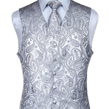 Vest Suit Square-Set Wedding-Tie Paisley Jacquard Classic Men's Handkerchief Pocket Party