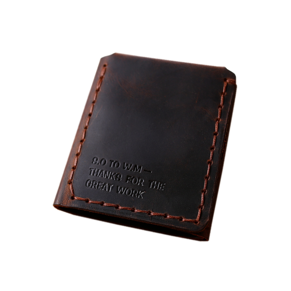 Trifold Leather Wallet for Men Retro Genuine Leathe