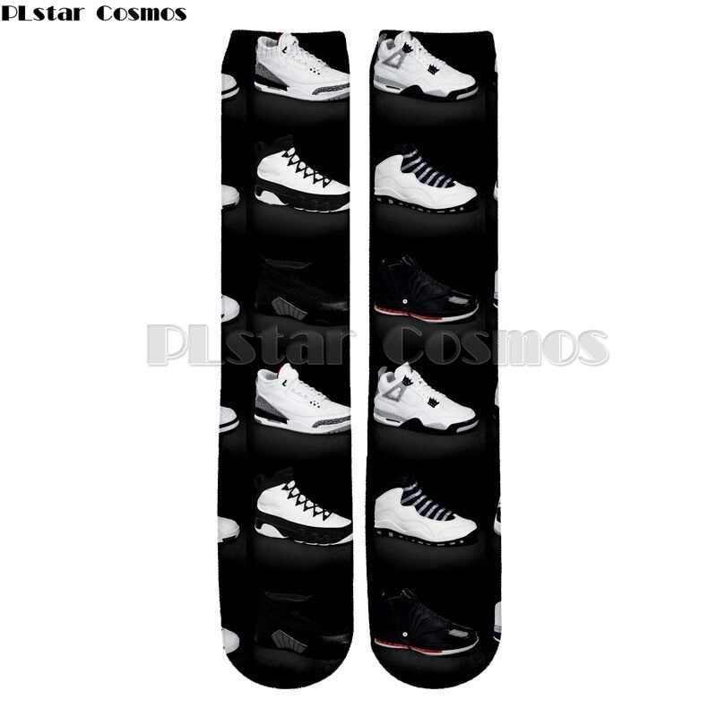 832b51146af6 PLstar Cosmos Harajuku Funny Cotton Sock Men 3d Jordan Shoes Printing Socks  Casual Fashion Thick Ankle