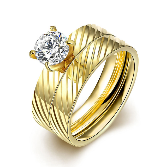 ERLUER Dubai gold color Rings for women men lovers Gift fashion