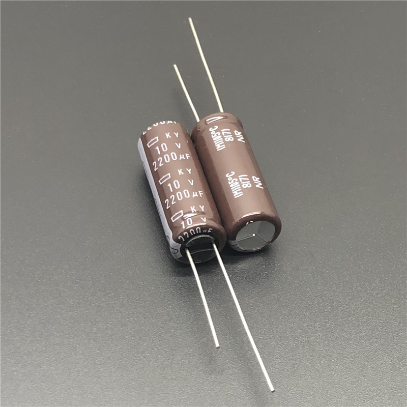 10Pcs/50Pcs 2200uF 10V NCC KY Series 10x30mm Low ESR 10V2200uF Aluminum Electrolytic Capacitor