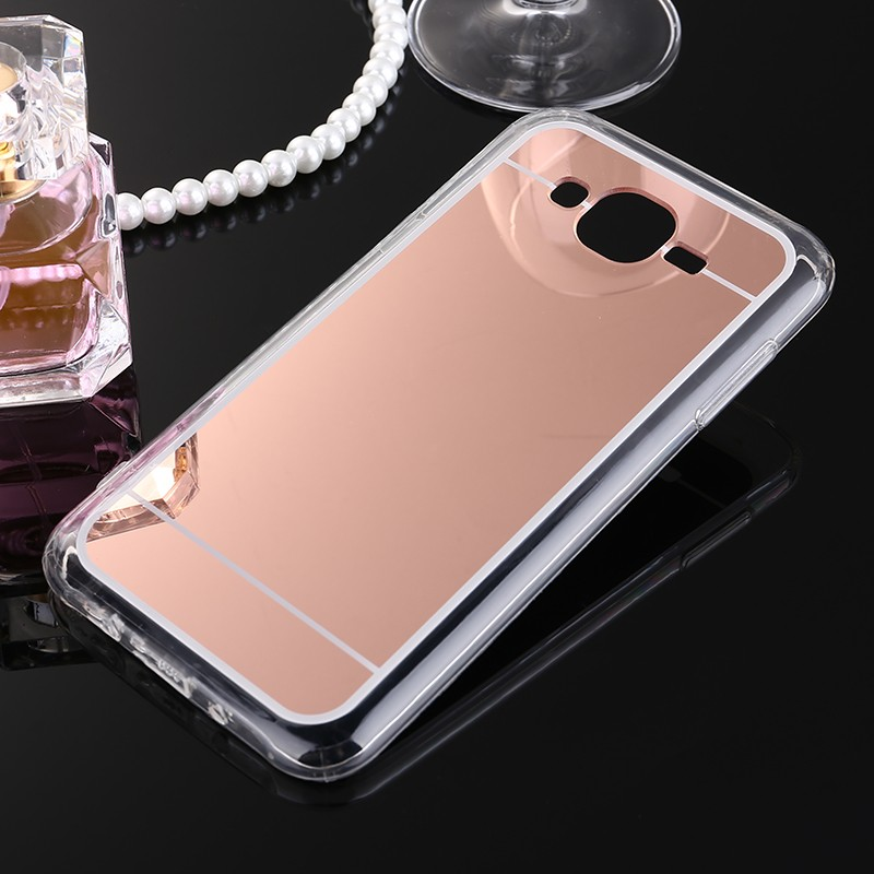 Coque Clear Silicon Plating Plastic Soft Transparent Mirror TPU Case For Samsung Galaxy J2 J3 J5 J7 Gold Silver Back Phone Cover