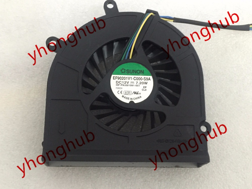 Free Shipping For SUNON EF90201V1-C000-S9A DC 12V 7.2W 4-wire 4-pin Server Blower fan free shipping for sunon eg50040v1 c06c s9a dc 5v 2 00w 8 wire 8 pin server laptop fan