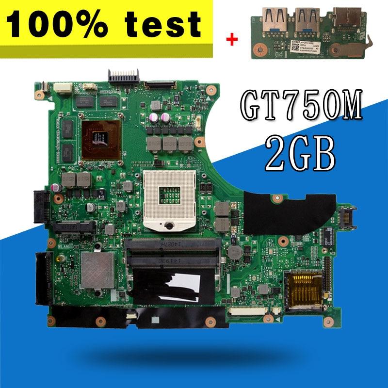 send usb board GT750M 2GB REV 2.0 N56VV motherboard For ASUS N56V N56VV Laptop motherboard N56VV mainboard x556u usb board for asus x556u x556uj x556ujq x556ub x556ua x555uv laptop dedicated rev 2 0 usb io board tested well