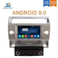 JDASTON Android 9.0 Car DVD Player For Citroen C4 Quatre Triumph Multimedia Video Player 4G+32G WIFI GPS Navigation Radio Stereo