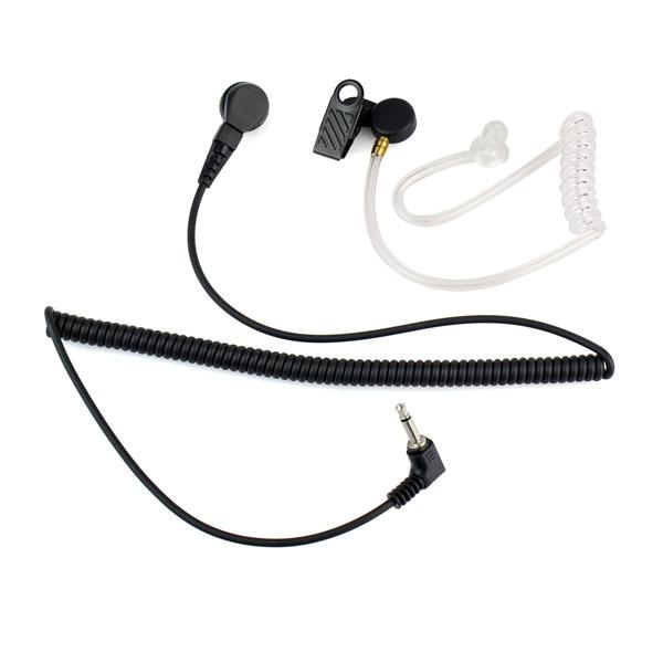 imágenes para 3.5mm Escucha Sólo Auricular Tubo Acústico Flexible Mono Jack Accesorios C2140A Transparentfor Para Walkie Talkie Auricular