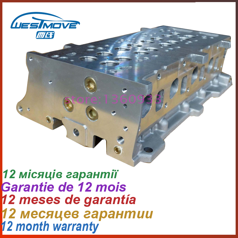 Cylinder head For Lancia Musa Ypilson 1250CC 1.3 TD DOHC 16V 2003- ENGIEN : 188A4.000 188A9.000 199A3.000 71729497 71739601