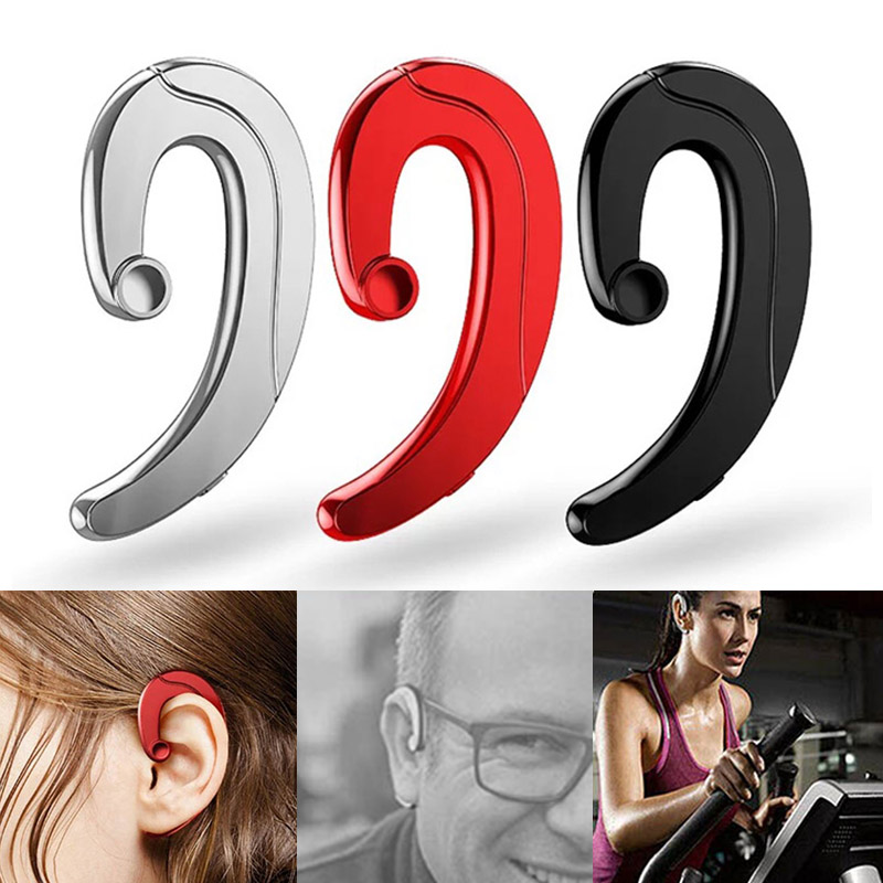 1Pc Wireless Bone Conduction Bluetooth Earphone Headset Sports Headphone with Mic @JH