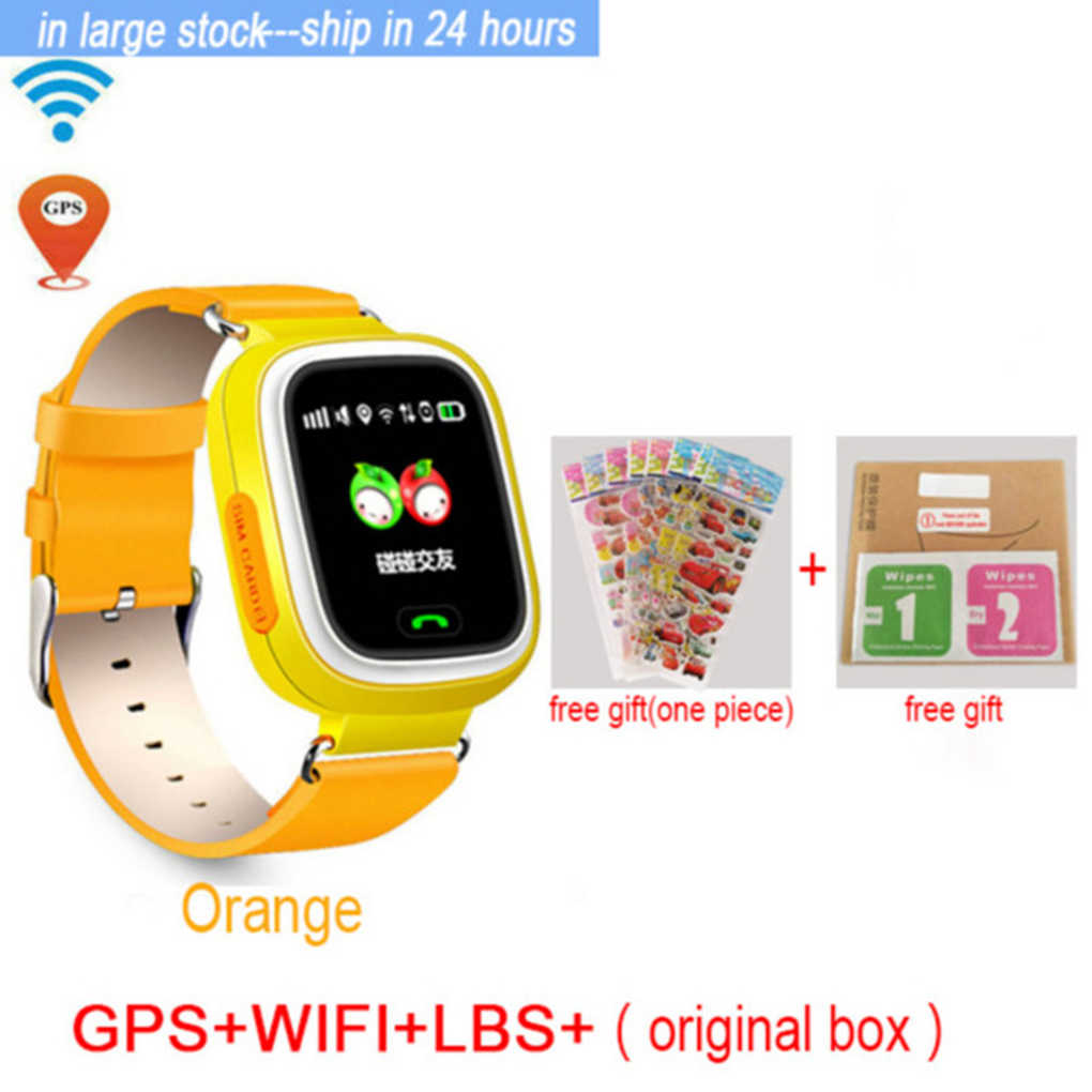 Q90 GPS Phone Positioning Children Watches with WIFI SOS Smart Baby Kids Watch Anti Lost Monitor Tracker