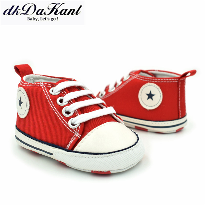 Dkdakanl Toddler Shoes Soft Baby Canvas Wear Non-Slip Lace-Up FF26R Four-Seasons