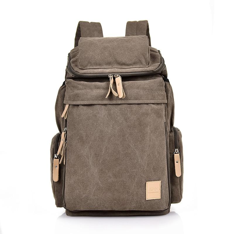 MANJIANGHONG Man's Canvas Backpacks Multi-Function Big Backpack Bag Man Fashion Simple Travel Bags Dropshipping Costomized Bags Men Men's Bags cb5feb1b7314637725a2e7: Coffee|Light Khaki|Army green|black|Blue|Khaki