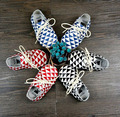 Baby Moccasins 2015 new Newborn Baby firstwalker Soft Moccs plaid baby girl shoes Genuine Cow Leather Infant Shoes