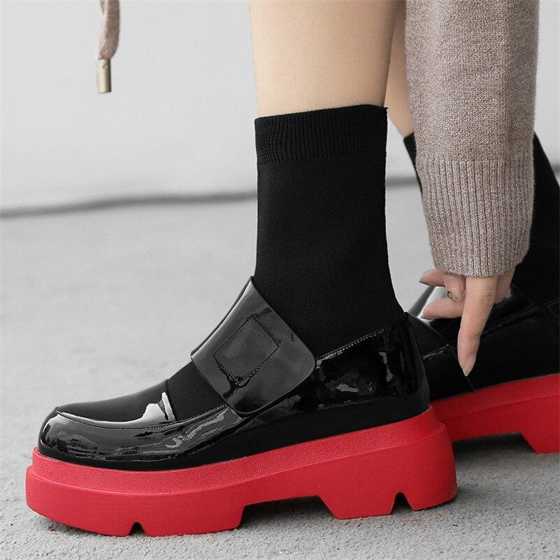 FEDONAS/Новинка; женские ботинки до середины икры; сезон осень зима; Теплая обувь на высоком каблуке; женская повседневная обувь из натуральной ... - 6