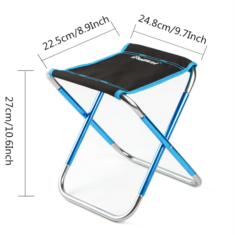 Image 4 - VILEAD 4 Colors Portable Camping Stools Ultralight Folding Chair Aluminium Outdoor Picnic Beach BBQ Fishing Foldable 25*22*27cm-in Camping Stools from Sports & Entertainment