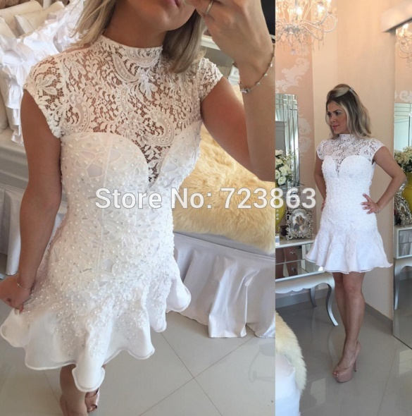 Slae Bride Top Grade Wedding Dress Bra Embroidered Bead: Online Buy Wholesale Short White Graduation Dress From