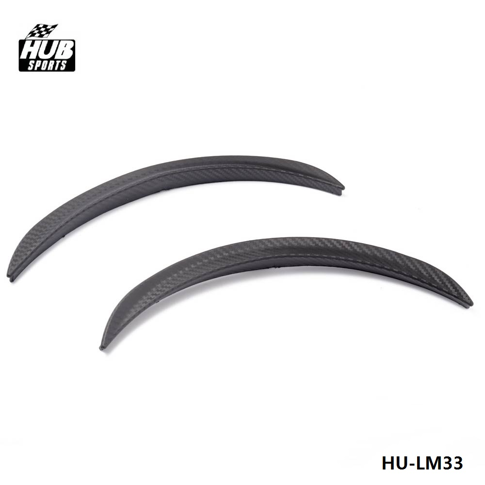 "1 Pair 13/""  Carbon Texture Diffuser Fender Flares Lip For VW Wheel Wall Panel"