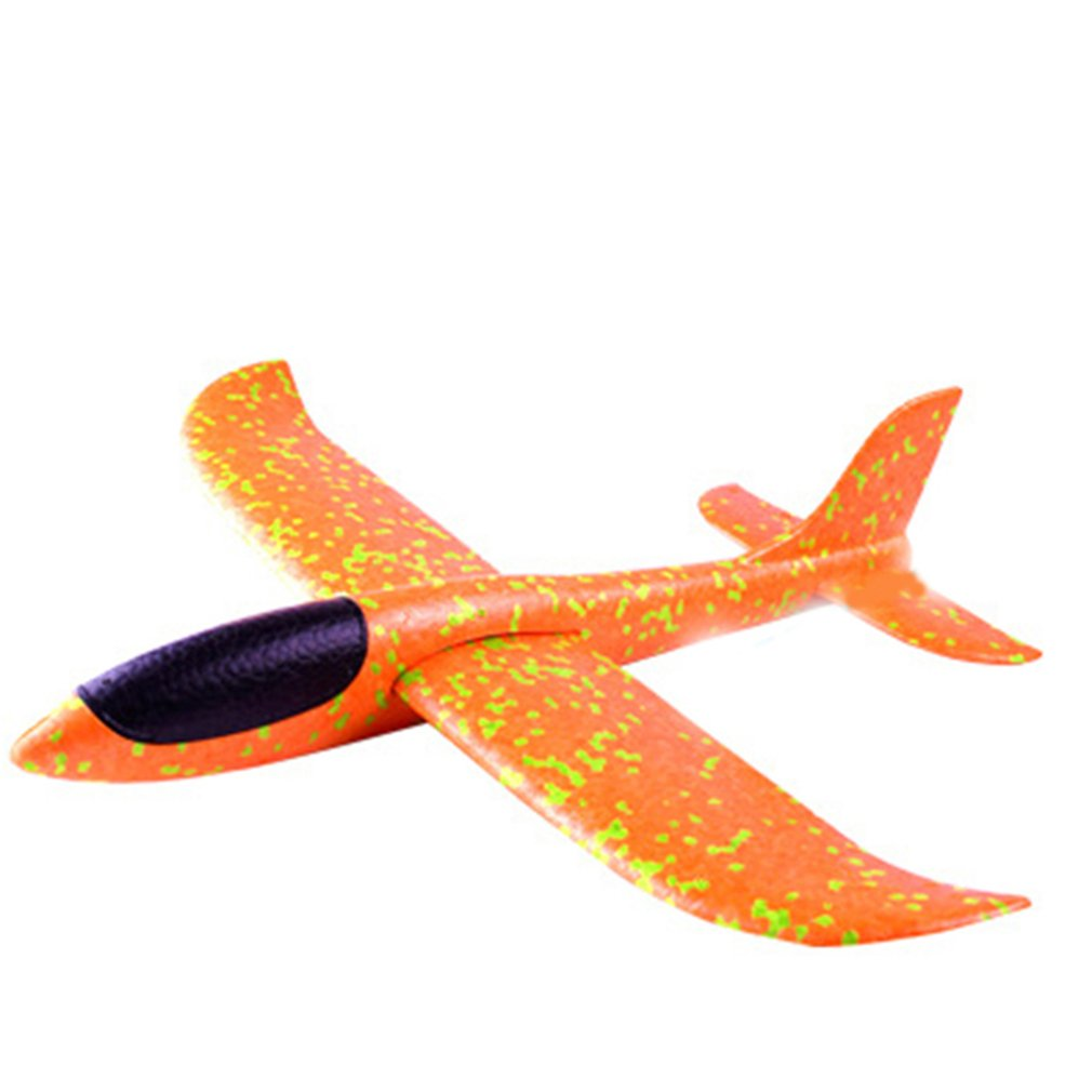 48cm Big Hand Throw Airplane Flying Foam Glider Plane Inertia Aircraft Toy Hand Launch Mini Airplane Outdoor Toys Gift for Kids
