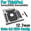"""Nueva 12.7mm 2.5 """"Caja Del Disco Duro Caddy SATA 3.0 SATA Al 2do HDD ssd recinto para serie lenovo thinkpad r400 r500 t420 t430 T520"""