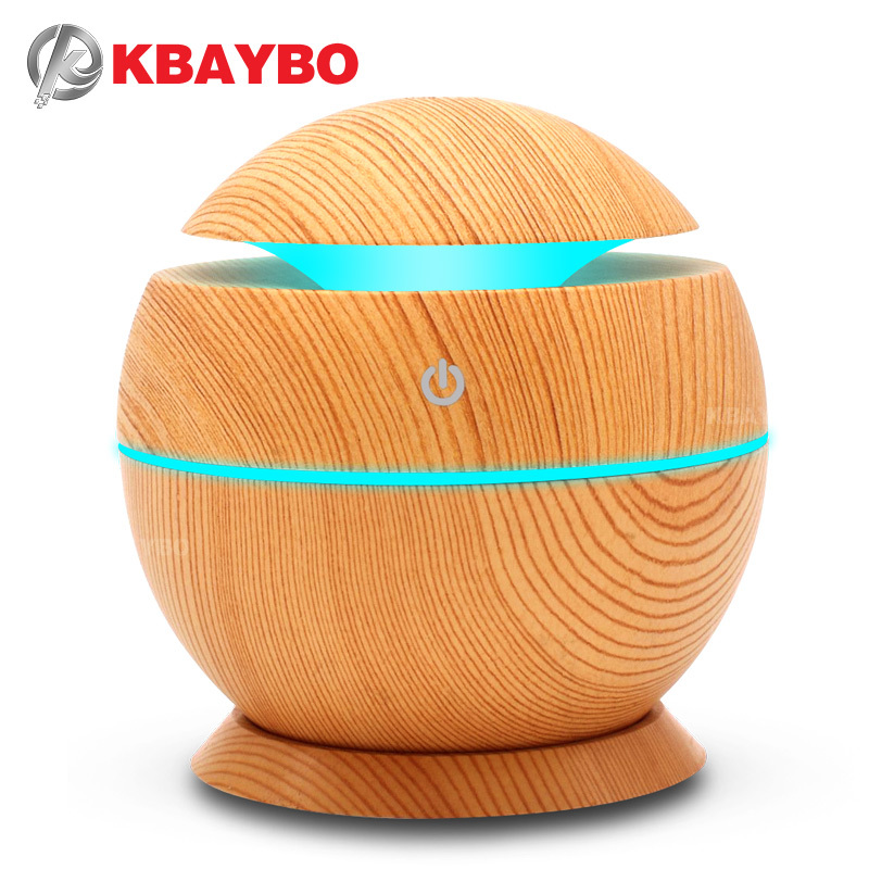 USB Aroma Humidifier Aromatherapy Wood Grain 7 Color LED Lights Electric Aromatherapy Essential Oil Aroma Diffuser 130ml humidif aromatherapy aroma mix