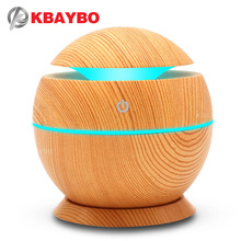 USB Aroma Humidifier Aromatherapy Wood Grain 7 Color LED Lights Electric Aromatherapy Essential Oil Aroma Diffuser 130ml humidif