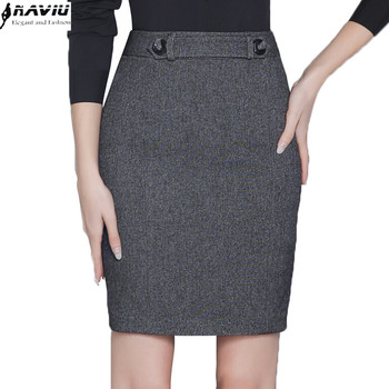 Autumn fashion slim black grey skirt women all-match slim formal female OL office plus size Mini short skirt