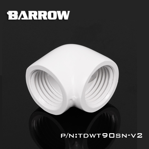 Image 4 - Barrow double internal G1/4'' thread 90 degree Fitting Adapter water cooling Adaptors water cooling fitting TDWT90SN V2-in Fans & Cooling from Computer & Office