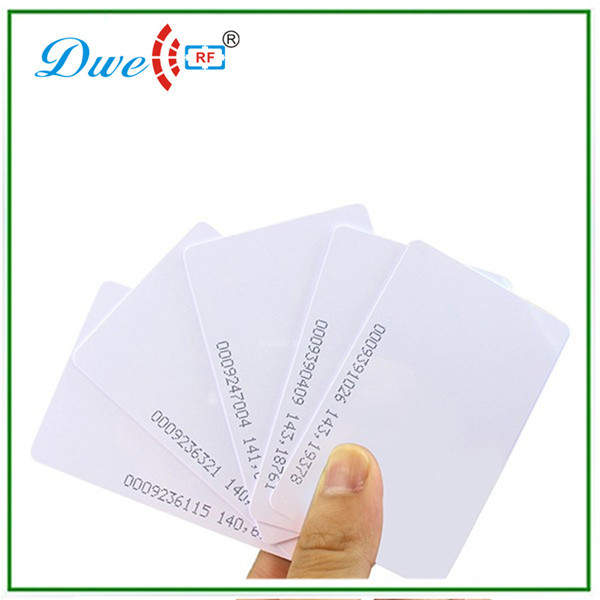 low cost ISO EM4100 TK4100 rfid 125khz 0.8mm thin inkjet pvc access control proximity card simple low cost electronics projects