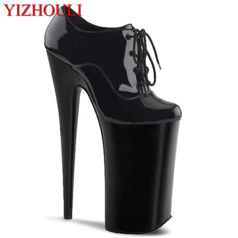 20cm Women's Platform High Heel Shoes Stiletto Quality Heeled Pumps Ladies Fashion Sexy Gladiator Shoes size 35 42 women s platform high heel shoes stiletto brand quality heeled pumps ladies fashion sexy gladiator shoes r08753