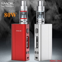 SMOK Nano One 80W Vape Box Mod Kit Vaporizer Electronic Cigarette with Nano TFV4 Atomizer VS Primo Mini 80 S088
