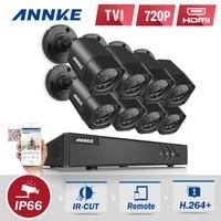 ANNKE 8CH 1080P HDMI CCTV System 8pcs 720P HD 1200TVL CCTV Security Cameras IR Outdoor Waterproof