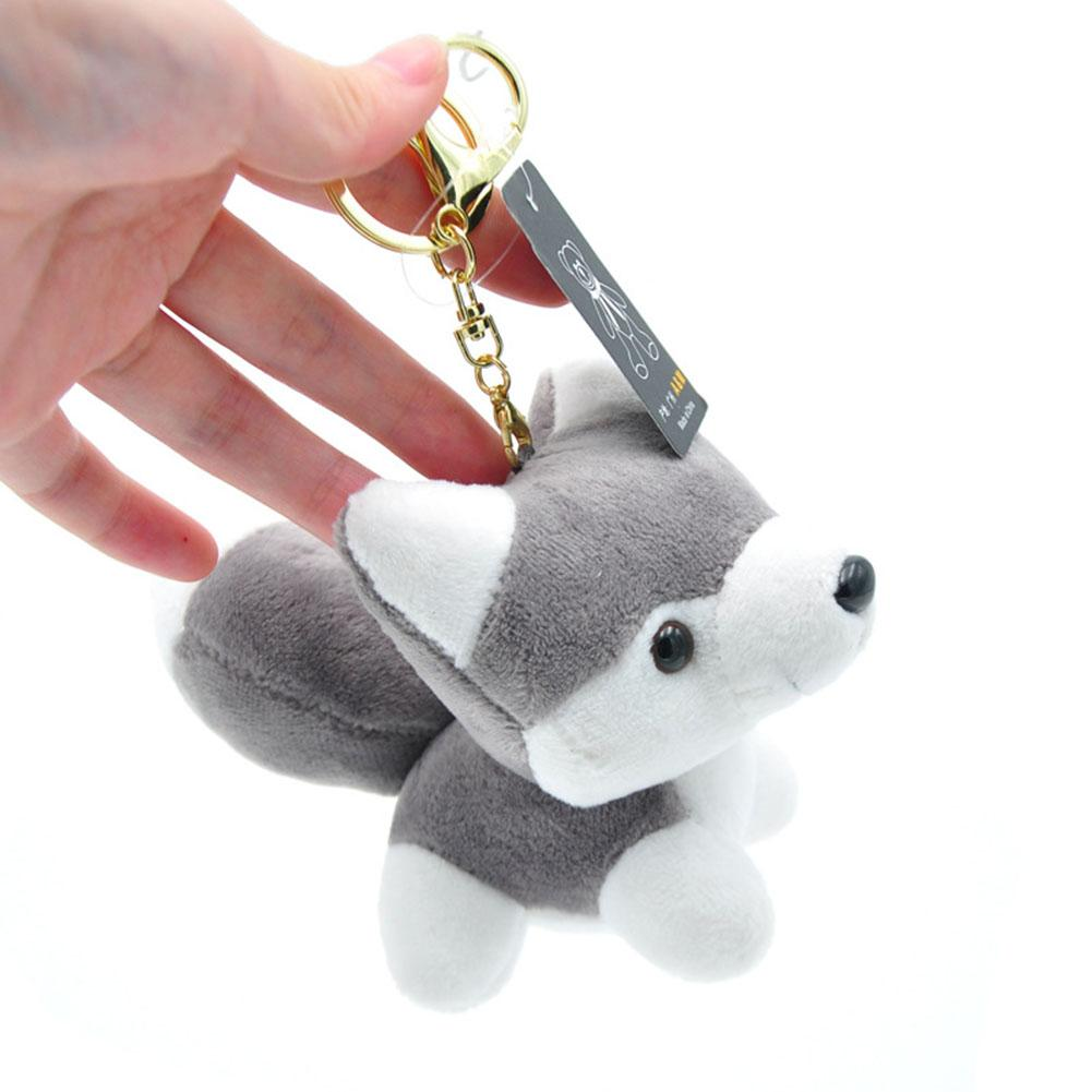 Cute Small Husky Dog Plush Doll Toy Keychain Keyring Pendant Bag Car Key Holder Cute Pendant Keychain Keychain Pendant Jewelry