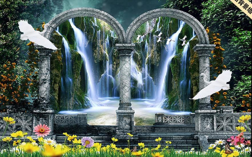 customize 3d mural wallpaper Dream Garden Wonderland background wall 3d wallpapers for wall papel de parede do desktop