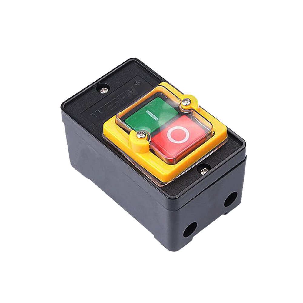 10A 380V On Off Water Proof Push Button Switch Waterproof PushButton for Schneider electric Drill Switch Plastic Motor on off start stop push button pushbutton switch 87x56mm with dust cover