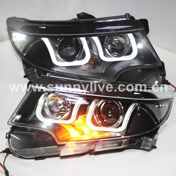 Year For Ford Edge Led Head Lights U Style Angel Eyes With K Hid Xenon Bulb Lamp