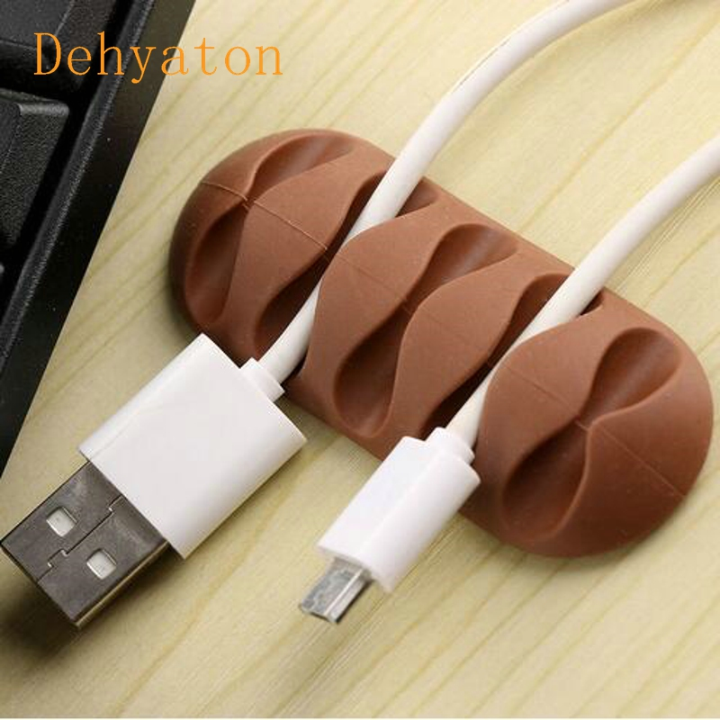 Dehyaton Cable Winder Earphone Cable Organizer Silicon Wire Holder For Charger Data Cable Holder Clips For MP3 Mouse,Earphone