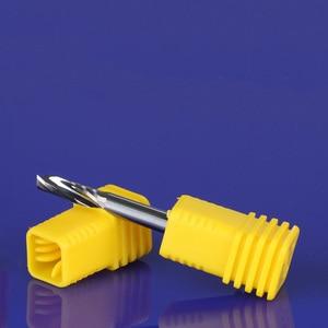 "Image 2 - CNC נתב סין סיטונאי כלים יחיד חליל ספירלת bits מיל אלומיניום חיתוך קצת 7 מ""מ 1/8"""