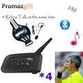 4 V4, fútbol, bicicleta, bicicleta, montar, árbitro, Intercomunicador con Bluetooth, auriculares, Walkie Talkie BT, Intercomunicador interfono