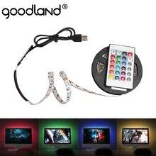 USB Светодиодные ленты ТВ Подсветка лента светодиодный гибкий Диодная лента SMD3528 DC 5V Светодиодный светильник ленте 50 см 1 м 2 м 3 м 4 м 5 м RGB светодиодный полосы для ПК